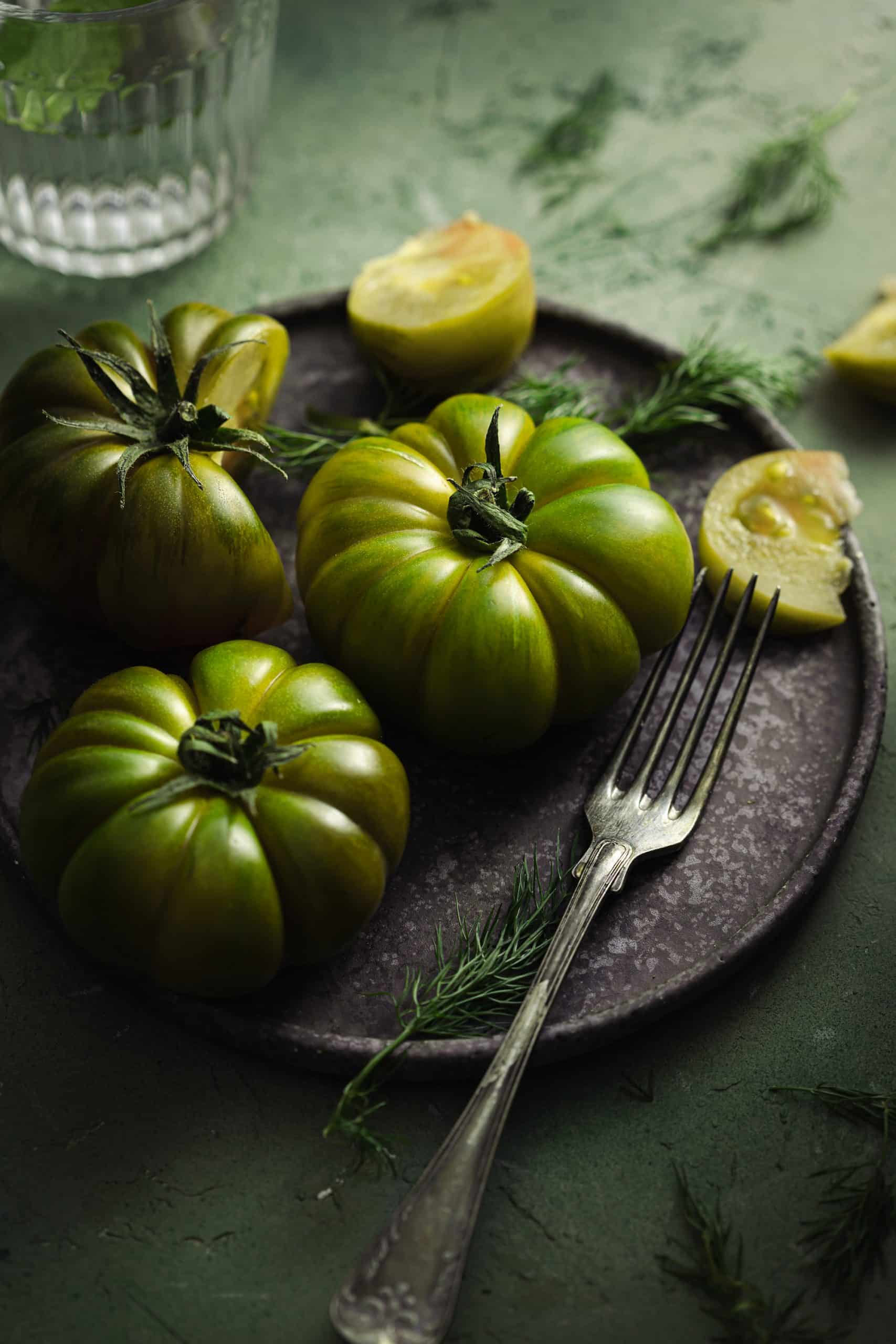 Green tomatoes monochrome - Food Photography - healthy Goodies by Lucia